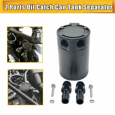 Universal Internally Baffled Oil Catch Can Tank 2 Port Separator