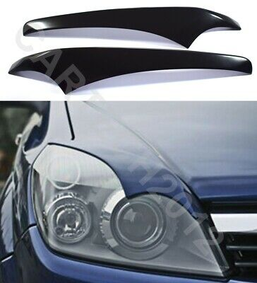 "Fits Vauxhall Opel ASTRA H  2004-2009 Headlamps EYEBROWS ver2 ""Bad Look"""