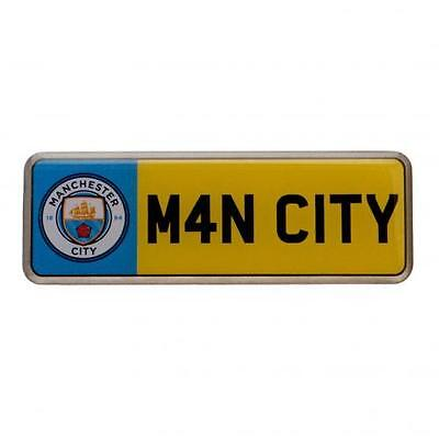 Manchester City F.C. Number Plate Badge Official Merchandise