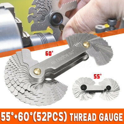 40XThread Measuring Gage 60 Degree Whitworth Metric Screw Thread Pitch GaugeYYY