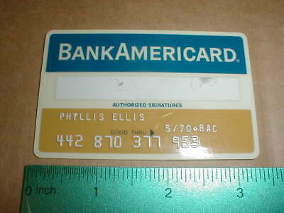 old Union National Bank Clarksburg WV West Virginia BankAmericard Credit Card