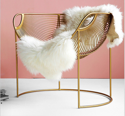 Gold Hollow-Out Chair