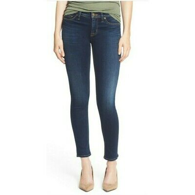 32018d96cd5 Hudson Womens Sz 26 Colette Midrise Skinny Jeans Dark Wash Cotton Blend  Stretch