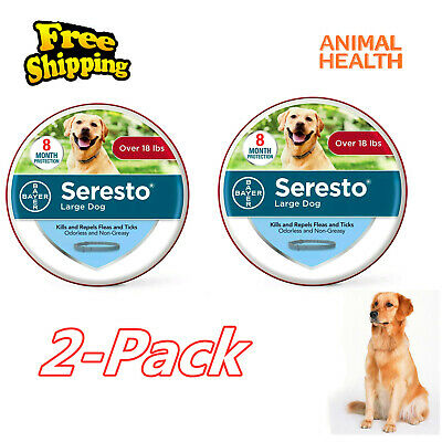 Animal Health Seresto Flea and Tick Collar for Large Dogs Over 18lbs-2Pack