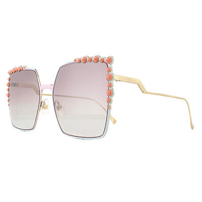 Fendi Sunglasses 0259/S 35J NQ Pink with Mint and Gold Pink Gradient