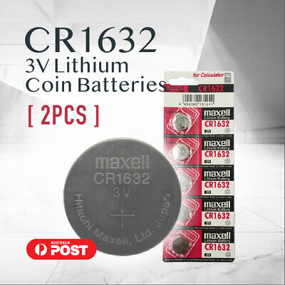 2x CR1632 CR 1632 3v lithium Battery button cell coin f watches stock In Mel