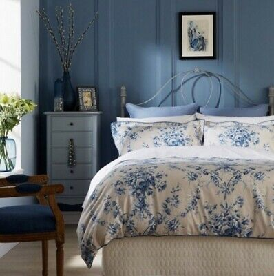 Christy Toile Double Duvet Cover  China Blue 100% Cotton