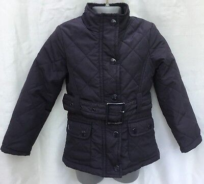 Sweet Millie Girls Navy Blue Light Quilted Belted Jacket - Age 2-3 Years