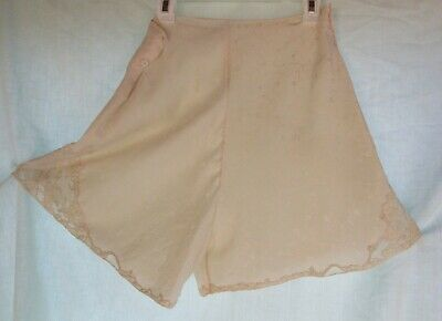 Vintage or Antique Embossed Silk Lots of Quality Lace Tap Pants Pearl Buttons S