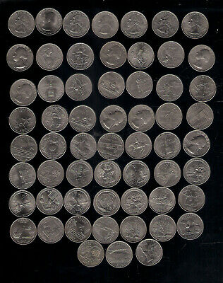 America Usa Coin Quarters Cents Commemorative 25 Cents 1/4 Dollars United States