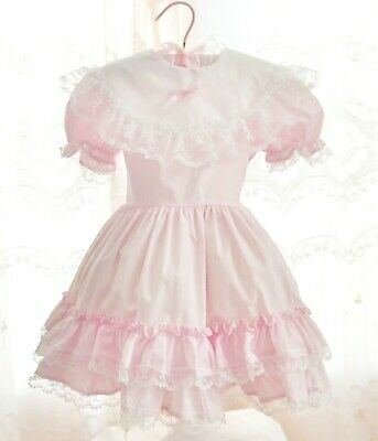 f5d58fcc2d005 VINTAGE LIDL DOLLY Girls Dress Southern Belle Red White Lace Size 8 ...
