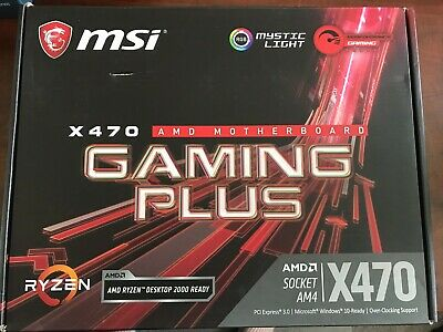 MSI X470 GAMING PLUS Motherboard - Motherboard - AMD Socket AM4