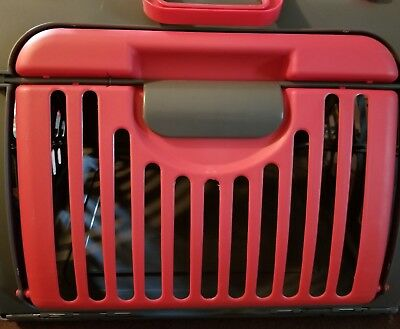 Comfort Pet Cat Foldable Travel Tote Carrier Plastic Wide Sided Door Collapsible
