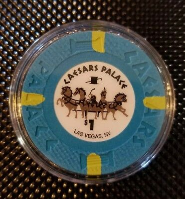 $1 Las Vegas Caesars Palace smaller inlay Casino Chip Uncirculated