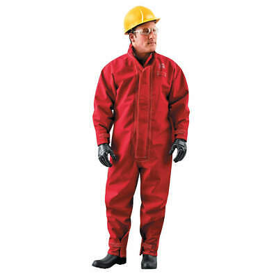 NEW!! Collared Coverall, Hook-and-Loop, Red, 4XL