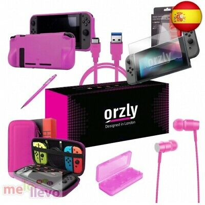 ORZLY Ultimate Pack Accesorios para Nintendo Switch [Incluye: Protectores(ROSA)