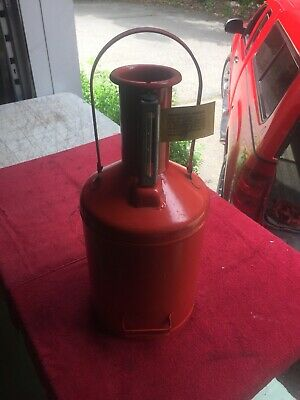 Vintage 1950's NOS Huffman 555 Field Test 5 Gallon Gas Oil Can Filling Station