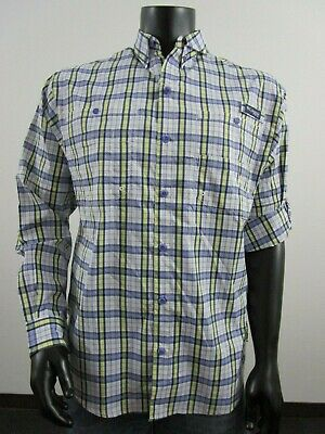 ea45d848 NWT Mens M Columbia PFG Super Tamiami LS Long Sleeve Fishing Shirt Purple  Plaid