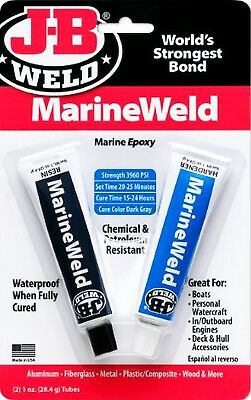 J-B Weld MarineWeld 2 part Marine EPOXY Waterproof Adhesive GLUE JB J B 8272