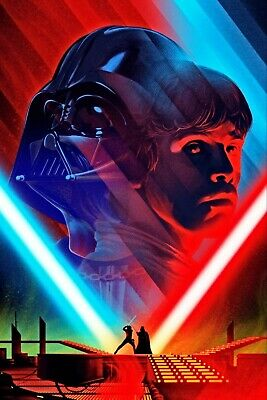 Luke Skywalker vs Darth Vader Art Poster Star Wars - NEW - 11x17 13x19