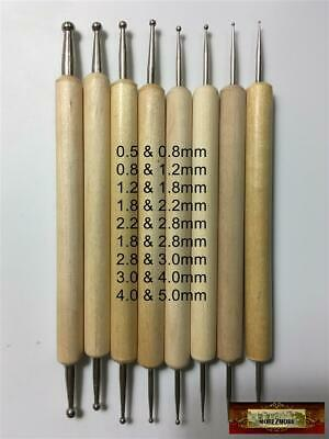 M00239 MOREZMORE 8 Ball Stylus Polymer Clay Doll Sculpting Tools 0.5-5.0 mm