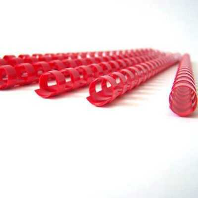 100 x 9.5mm Acco Rexel Office School Plastic Ring-Binding Combs-A4-Red