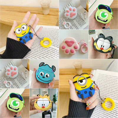 Minions Pendant Strap Earphone Case Cover for Apple Airpods 1/2 Charging