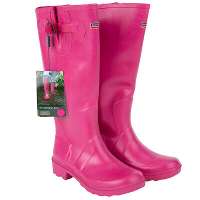 Town&Country Female Festival Wellies Wellington Boots Raspberry Size 3