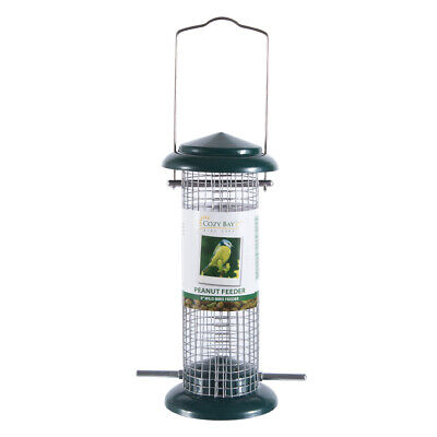 "Outdoor 9"" Durable Deluxe Wild Bird Peanut Food Feeder Container Cage 330g"