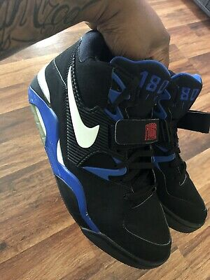 782b4dc5d8 Nike Air Force 180 Charles Barkley 2004 Blk Sport Royal Blue 310095-011 Size  12