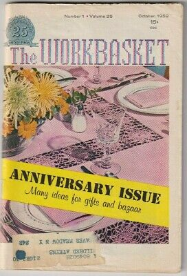 Many The WORKBASKET c.1958-63, 68 - CROCHET/Knit/TAT Vintage Patterns - Choose!