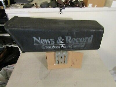 Vintage Old Newspaper Tube Delivery Mail Box     News and Record Greensboro  NC