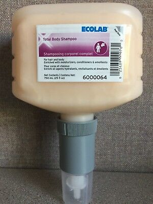 ECOLAB 6000064 - Total Body Shampoo - For Hair and Body - 750 mL (25 fl oz)