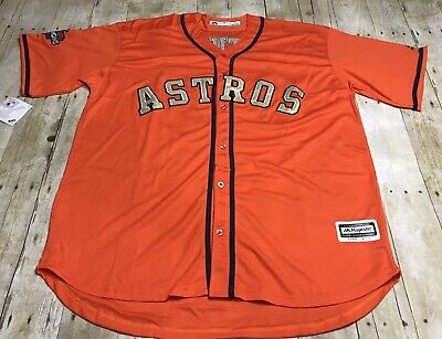 c01e10836 New Houston Astros 2017 Jose Altuve World Series Orange Gold Jersey Men's XL