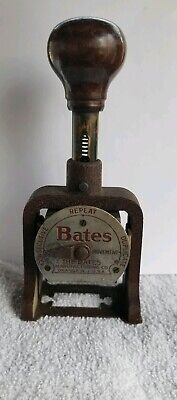 ANTIQUE BATES NUMBERING Machine 6 Wheels Multiple Movement