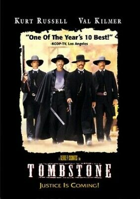 Tombstone DVD Video R Kurt Russell  Action and Adventure Romance Westerns NEW