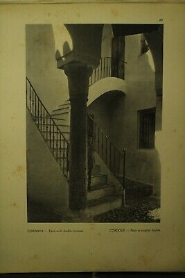 rare antique old book Lesser Known Architecture of Spain photographs plates