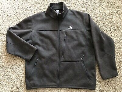 6d5fd3128f5c5 NIKE ACG MENS 2XL Spell Out Full Zip Soft Shell Outdoor Athletic Jacket  Brown