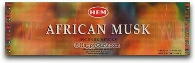 """African Musk"" HEM Brand Incense 200 Sticks (25 Square Packs)"