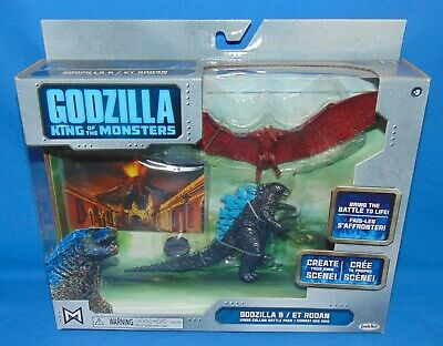 "2019 JAKKS Pacific GODZILLA vs RODAN *Sealed* 3.75"" King of Monsters Diorama"