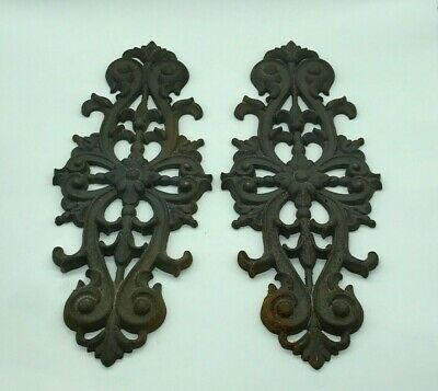 Antique Plate,Palmette Cast Iron Ornaments 19th Ème. SOLD EACH * Piece. 35X14 CM