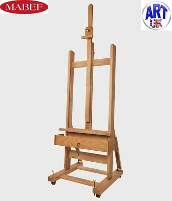 Mabef Professional Artist Beech Wood Studio Easel with crank- M/04