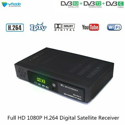 Vmade DVB-T2 S2 DVB-C 3 in 1 Combo HD Digital Terrestrial Satellite Receiver