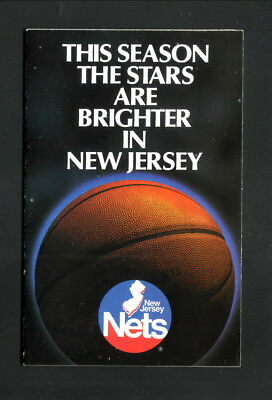 newest a0b99 f6b19 NEW JERSEY NETS 1987/88 NBA Basketball Pocket Schedule - New ...