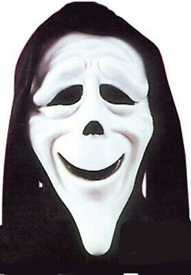 Mens Ladies Official Scary Movie Scream Ghost Stoned Mask Halloween Fancy Dress