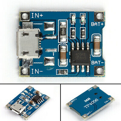 TP4056 Mini USB 1A Lithium Battery 18650 Charging Board Charger Module LED