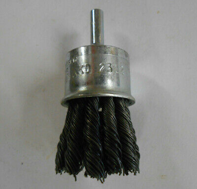 "1"" Wire Knot End Brush with 1/4"" Shank For Die Grinder or Drill KD Tools 2312"
