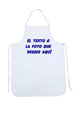 Delantal Cocina Masterchef Con Nombre Personalizable  Color Blanco