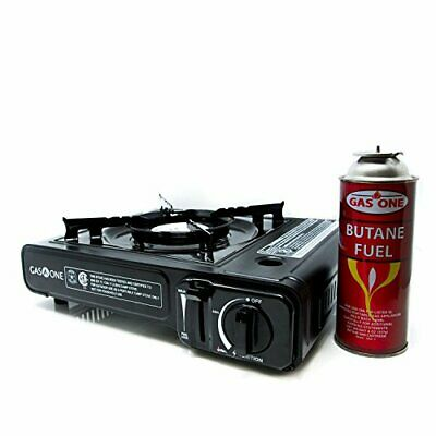 Gas ONE GS-3000 Portable Gas Stove with Carrying Case, 9,000 BTU, CSA Ap(Black)