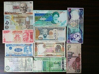 11 PCS of Different World MIX Foreign Banknotes Lot, Currency,of 10 countries